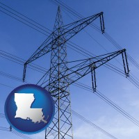 louisiana electrical utility transmission towers