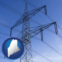 maine electrical utility transmission towers