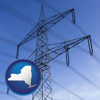 new-york electrical utility transmission towers